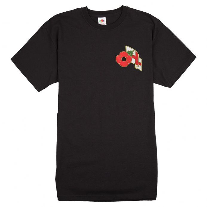 England T-shirt with Remembrance Sunday Poppy Logo